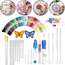 Needle Embroidery Set, Embroidery Pen Punch Needle Kit Embroidery Tool Pen for Sewing Knitting DIY Threads - Langray