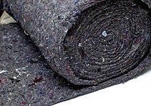 Needled Wool Felt Black 30 oz FR 27 inches w