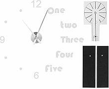 needlid Wall Clock Stickers, Modern Acrylic Mirror