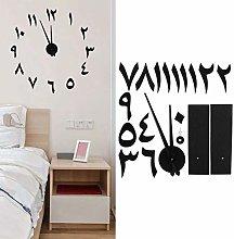 needlid Wall Clock, Wall Sticker Clock, Easy To