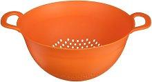 Negocio Colander Dual Handles Orange Plastic New