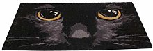 Nemesis Now Cat Doormat 45 x 75cm Black, One Size