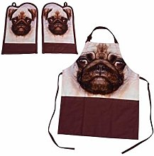 Nemesis Now Pug Apron and Oven Gloves Se