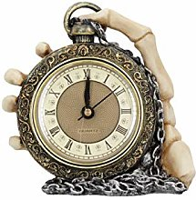 Nemesis Now Time Skeleton Clock 14cm Gold,