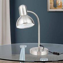 Nemo desk lamp, flexible, matt nickel