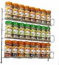 Neo® 24pc Chrome 3 Tier Spice Rack Jar Holder for