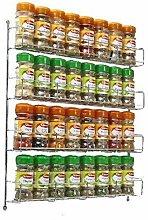 Neo® 32pc Chrome 4 Tier Spice Rack Jar Holder for