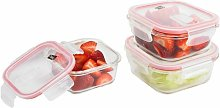Neo 3pc Glass Food Storage Container Set With Air