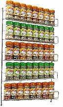 Neo® 40pc Chrome 5 Tier Spice Rack Jar Holder for