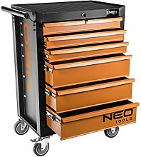 NEO 84-221 6 Drawers Tool Cabinet - Orange Black