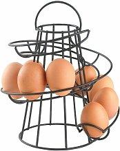 Neo Black Kitchen Spiral Egg Holder - Holds up to