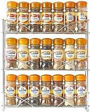 Neo® Chrome 3 Tier Free Standing Spice Rack Jar