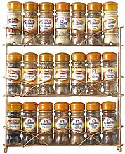 Neo® Copper 3 Tier Free Standing Spice Rack Jar