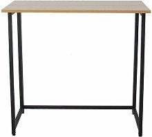 Neo Oak Foldable Compact Computer Wooden Desk
