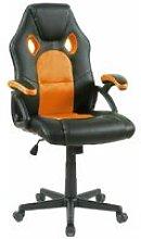 Neo Orange Swivel and Tilt PU Leather Mesh Office