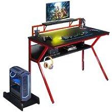 Neo Red Ergonomic 2 Tier Gaming Desk