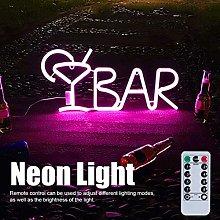 Neon BAR Sign BAR Letters Shaped Neon Light Up Bar