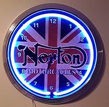 NEON CLOCK-38 cm DIAMETER-NEONUHR NORTON
