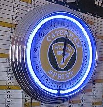 NEON Clock - Caterham Super 7 Sprint Garage Sign -