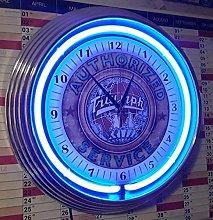Neon Clock Old Triumph Globe Car Sign Authorized