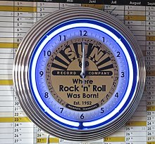 NEON CLOCK - SUN RECORDS-WHERE ROCK´N ROLL WAS