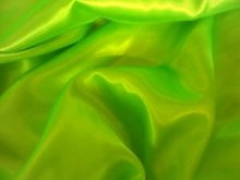 NEON GREEN   POLYESTER SILKY SATIN FABRIC **FREE