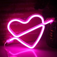 Neon Heart Signs Pink Neon Light Sign Bedroom LED