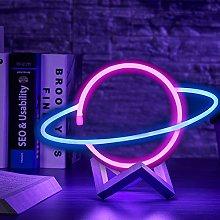 Neon Light LED Planet Neon Signs, Decorative Night
