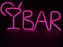 Neon Light Letter BAR Sign LED Lamp Decorative