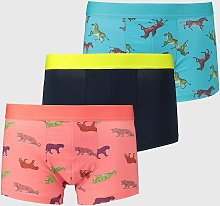 Neon Wild Animal Hipsters 3 Pack - M
