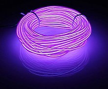 Neon Wire 9ft/3m Tube Rope Battery Powered