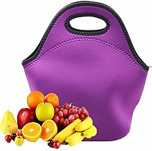 Neoprene Lunch Bag with Zipper for Adults Women