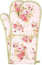 NEOVIVA Cotton Canvas Quilted Double Oven Glove,