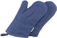 NEOVIVA Cotton Denim Quilting Kitchen Oven Gloves