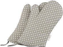NEOVIVA Polka Dots Oven Gloves for Kids in
