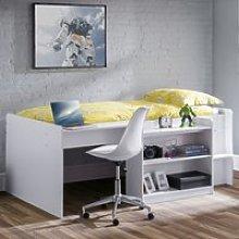 Neptune Midsleeper Bunk Bed With Computer Desk In