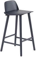 Nerd Bar chair - / H 65 cm - Wood by Muuto Blue