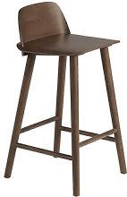 Nerd Bar chair - / H 65 cm - Wood by Muuto Natural