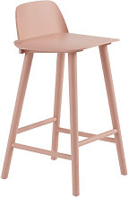 Nerd Bar chair - / H 65 cm - Wood by Muuto Pink