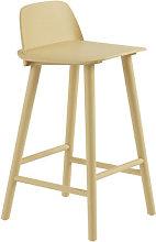 Nerd Bar chair - / H 65 cm - Wood by Muuto Yellow