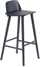 Nerd Bar chair - / H 75 cm - Wood by Muuto Blue