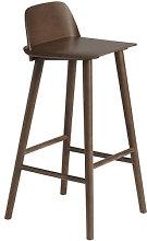 Nerd Bar chair - / H 75 cm - Wood by Muuto Natural