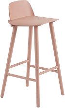 Nerd Bar chair - / H 75 cm - Wood by Muuto Pink
