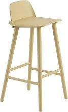 Nerd Bar chair - / H 75 cm - Wood by Muuto Yellow