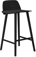 Nerd Bar chair - H 65 cm - Wood by Muuto Black