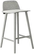 Nerd Bar chair - H 65 cm - Wood by Muuto Grey