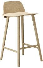 Nerd Bar chair - H 65 cm - Wood by Muuto Natural