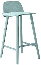 Nerd Bar chair - H 65 cm - Wood by Muuto Petroleum