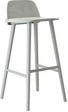 Nerd Bar chair - H 75 cm - Wood by Muuto Grey