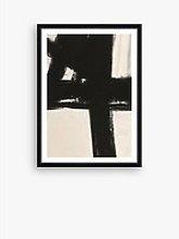 Nero 1 - Framed Print & Mount, 76 x 56cm, Black